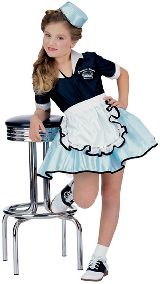 Child's Car Hop Girl Costume