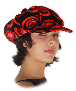 Red & Black Philly Mod Hat