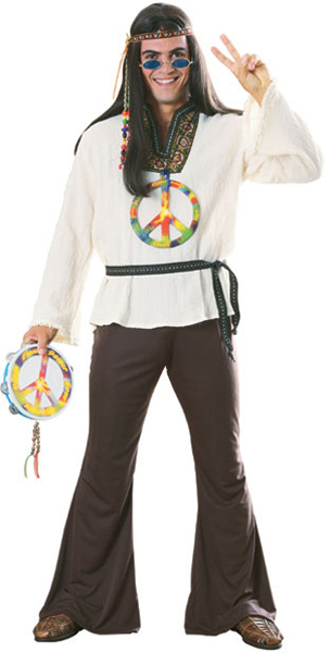 Men's Earth Tone Hippie Costume