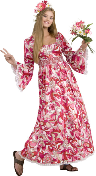 Woman's Hippie Flower Child Costume