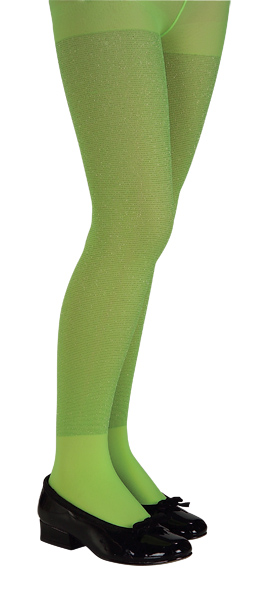 Child's Lime Glitter Tights