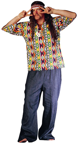 Adult 60's Hippie Man Costume