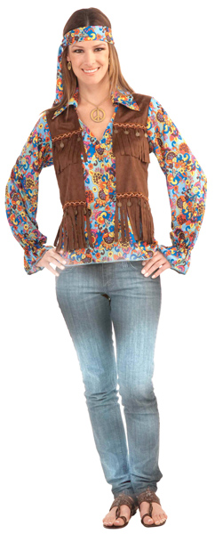 Groovy Hippie Chick Costume Kit
