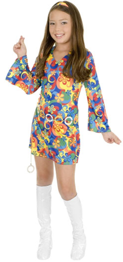 Child's Flower Power Disco Costume