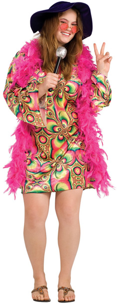 Adult Psychedelic Dress Costume