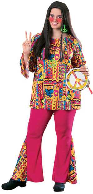 Women's Plus Size Hippie Girl Costume