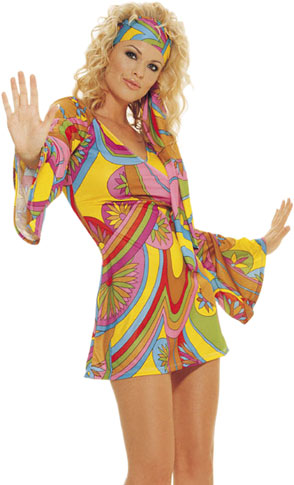 60's Hippie Girl Costume Dress