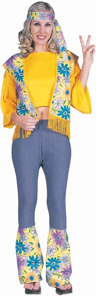 Adult 60s Girl Flower Child Costume