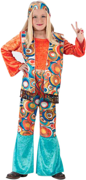 Child's Classic Hippie Girl Costume