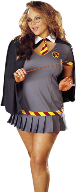 Plus Size Sexy Wizard Girl Costume