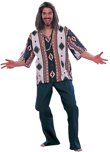 Adult 60's Hippie Dashiki Costume