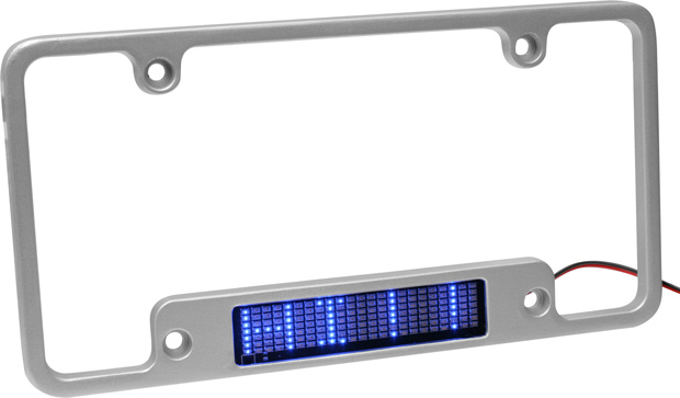 Aluminum Red LED Moving Message License Plate Frame