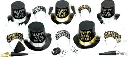 Evening Elegance New Years Party Kit for 10 People