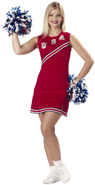 Adult Red & White USA Cheerleader