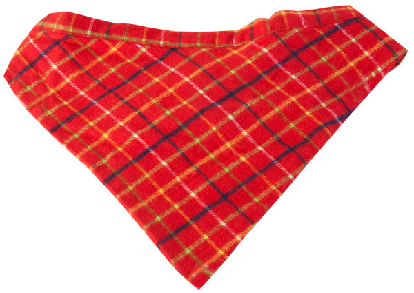 Red Plaid Dog Bandanna