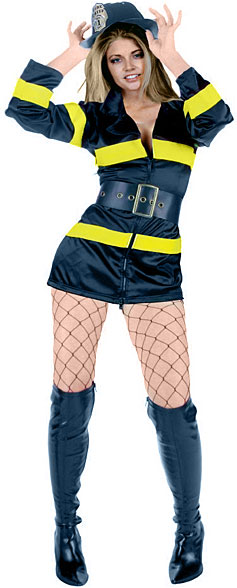 Sexy Black Firefighter Costume
