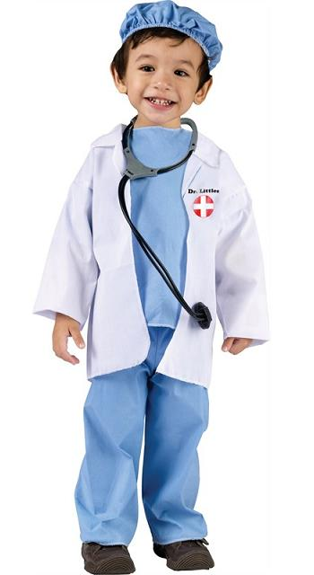 Toddler Dr. Littles Costume