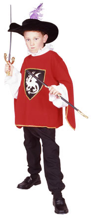 Child's Red Musketeer Costume