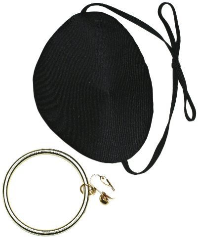 Pirate Eye Patch & Earring Set