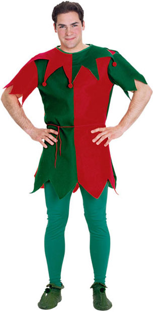 Adult Christmas Elf Tunic Costume