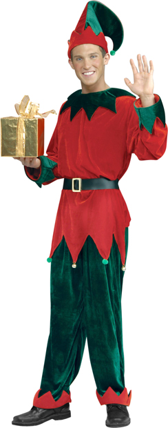 Adult Deluxe Santas Helper Costume