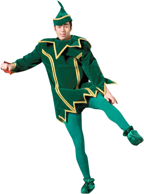 Green Christmas Elf Theater Costume