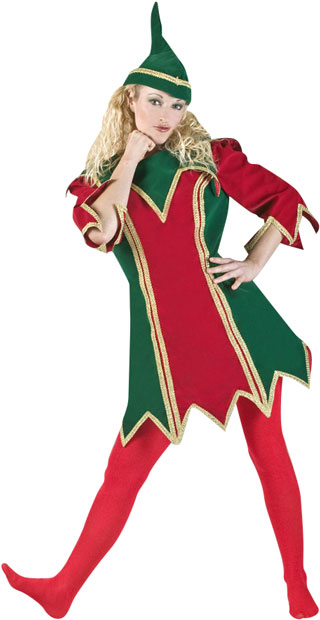 Women's Christmas Elf Theater Costume