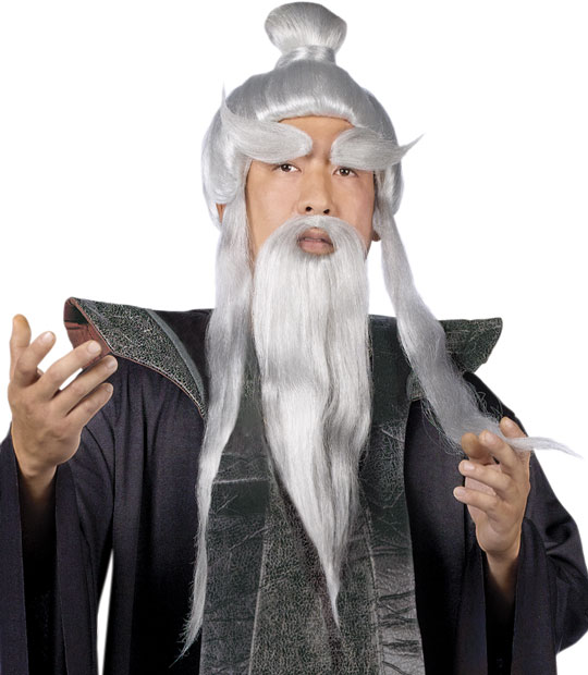 Pai Mei Costume Wig And Beard Set