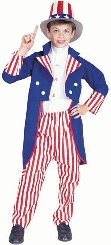 Child's Deluxe Uncle Sam Costume