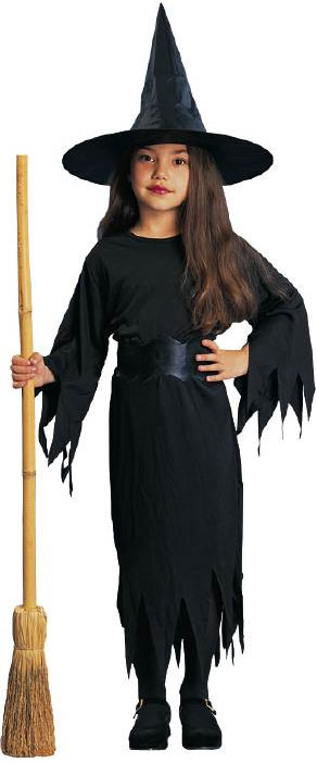 Child's Classic Black Witch Costume