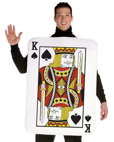 Adult King Of Spades Playing Card Costume