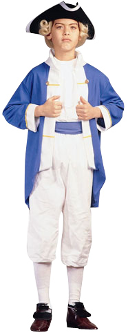 Child's Blue Colonial Captain Costume