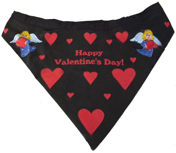 Happy Valentine's Day Dog Bandanna