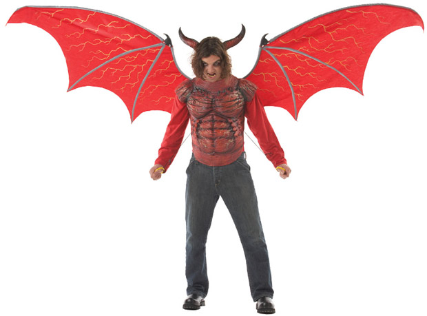 Devil Costume w/ Giant Wings