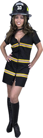 Women's Cotton Sexy Firefighter Costume