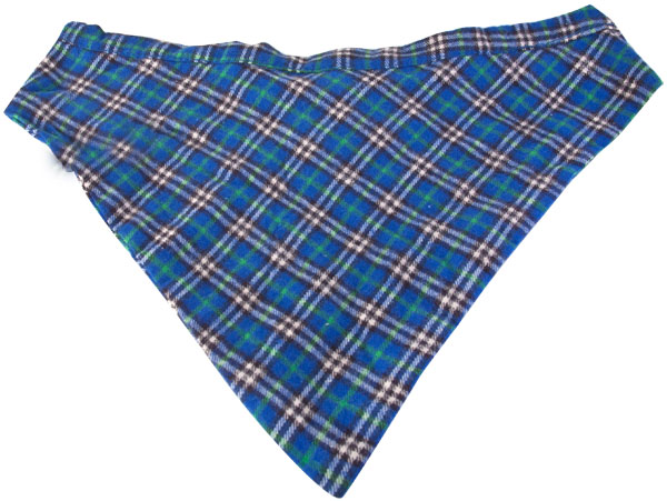 Blue & Green Plaid Dog Bandanna