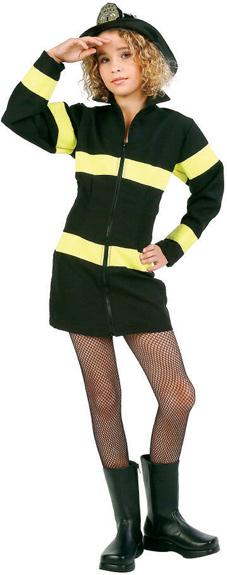 Preteen Firefighter Girl Costume