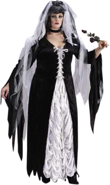 Plus Size Bride Of Darkness Costume