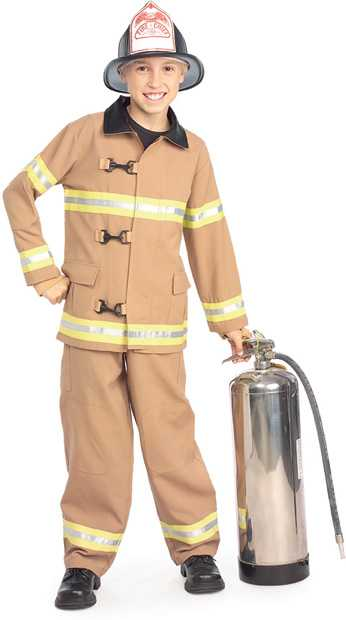 Deluxe Child's Fire Fighter Costume