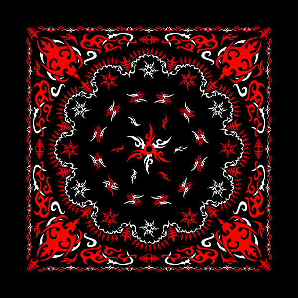 Black Tribal Paisley Bandanas
