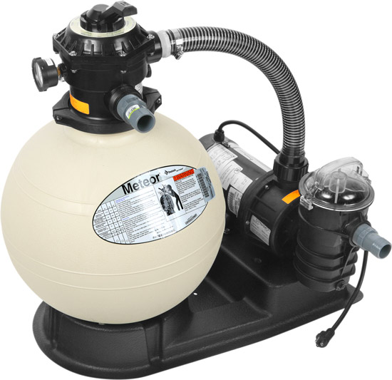"Pool Sand Filter with 3/4 HP Pump and 18"" Tank"