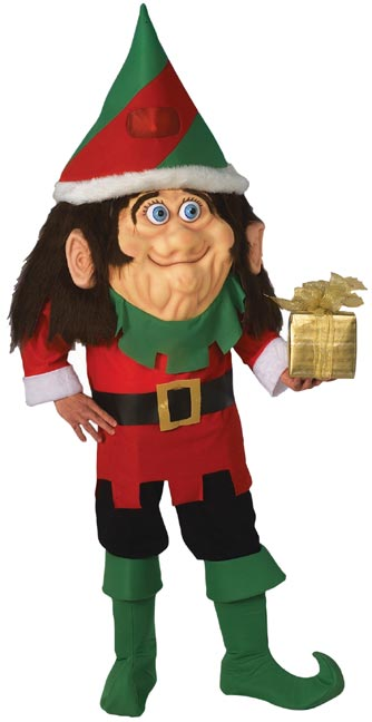 Adult Oversized Santas Elf Mascot Costume
