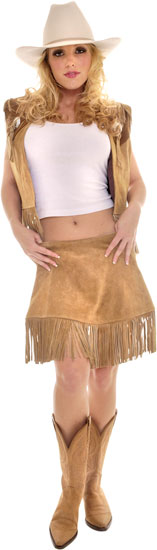 Leather Annie Oakley Costume