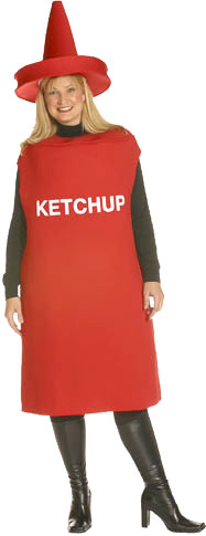 Plus Size Ketchup Bottle Costume