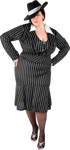 Woman's Plus Size Bonnie and Clyde Costume