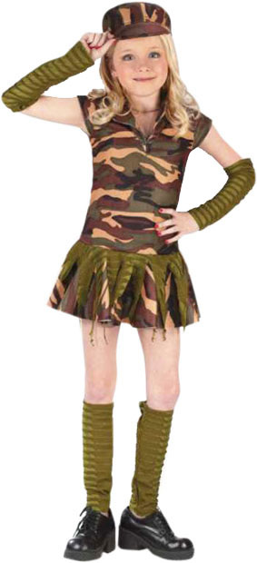 109158768f50a Child's Army Brat Costume | Army Soldier Girl Costumes ...