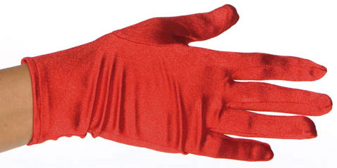 Child's Red Spandex Costume Gloves