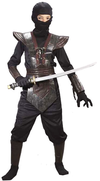 Child Leather Black Ninja Fighter Costume  sc 1 st  Brands On Sale : cheap ninja costumes  - Germanpascual.Com