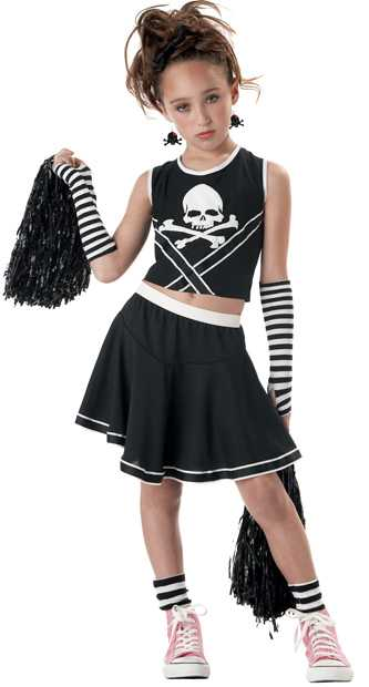 Child's Punk Cheerleader Costume