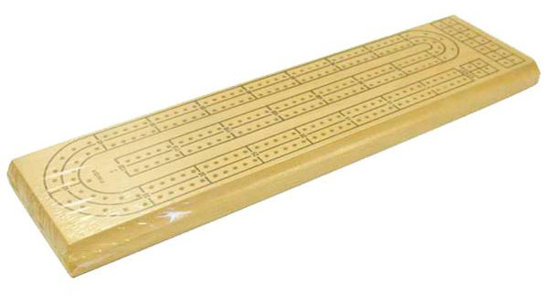 "13�"" Wooden Cribbage Board"